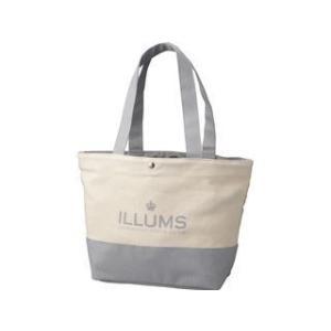 8dbea53019e0 ILLUMS/イルムス ロゴトートバッグ/ライトグレー/B−ILL15526GRY