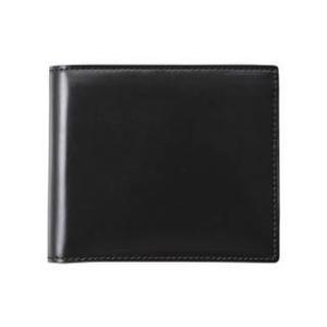 コードバン二つ折財布(ブラック)|murauchi