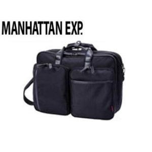 MANHATTAN EXP./マンハッタンエクスプレス  53-80251 メンズ 3way ビジネスバッグ (ブラック)|murauchi