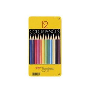 Tombow/トンボ鉛筆  缶入色鉛筆 12色 NQ CB-NQ12C|murauchi