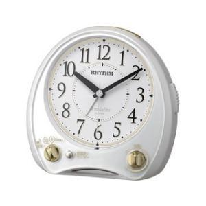 RHYTHM/リズム時計  4RM763SR03 【アリアカンタービレ】 クオーツめざまし時計 メロディアラーム/白(白) murauchi