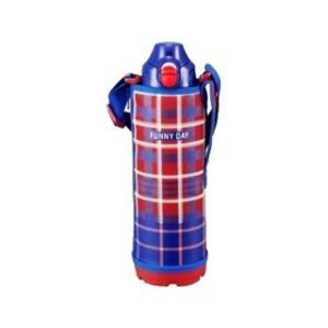 nightsale TIGER タイガー魔法瓶 MBO-F100-R ステンレスボトル 2WAY 直飲&コップ 1.0L レッドチェック の商品画像