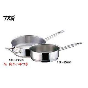 Total Kitchen Goods  AKT-90 電磁調理器対応業務用鍋 PRO (プロ) 片手浅型鍋 (蓋無) 内径24cm|murauchi