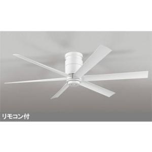 ODELIC  【軽量】WF237 LEDシーリング DCモーターファン 器具本体 6枚羽根 (白) 【直付専用】|murauchi