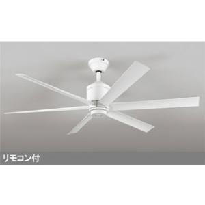 ODELIC  【軽量】WF239 LEDシーリング DCモーターファン 器具本体 6枚羽根 (白) 【パイプ吊り】|murauchi