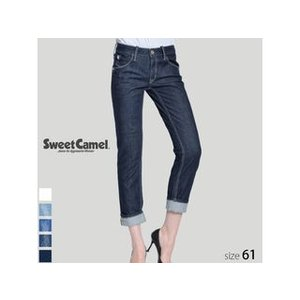 Sweet Camel/スウィートキャメル  レディース ロールアップストレート デニム パンツ (W4 ワンウォッシュ/サイズ61) SA-9312|murauchi