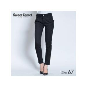 Sweet Camel/スウィートキャメル  テーパードスキニー パンツ(09=ブラック/サイズ67)|murauchi