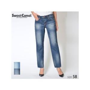 Sweet Camel/スウィートキャメル  レディース 80'sデニム ボーイズテーパード パンツ (R5 濃色USED/サイズ58) SAA382|murauchi