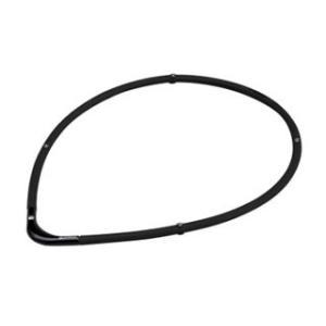 PHITEN/ファイテン  0215TG677054 RAKUWA磁気チタンネックレス S-II【55cm】(ブラック×ブラック)|murauchi