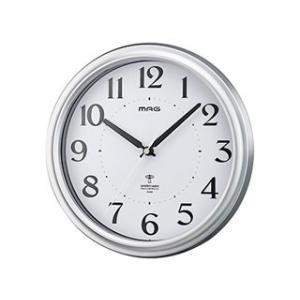 noa/ノア精密  MAG 【W-649】 電波掛時計 アストル SM-Z(銀メタリック)/夜間秒針停止機能 murauchi