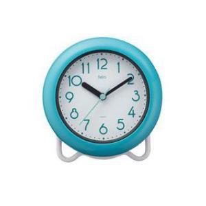 noa/ノア精密  【FEW130】 防滴バスクロック バブルコート 掛け時計 置時計 BU ブルー murauchi