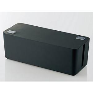 ELECOM/エレコム  EKC-BOX001BK 燃えにくいケーブルボックス(幅400mm) ブラ...
