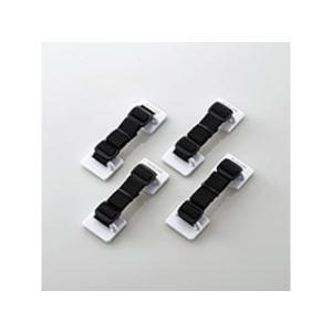 ELECOM/エレコム  耐震ベルト(粘着シールタイプ) 4本入 TS-004N2|murauchi
