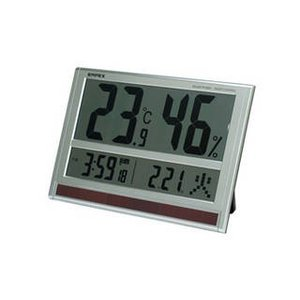 EMPEX  EMPEX ジャンボソーラー温湿度計 電波時計 超大型液晶 太陽電池 室内用 置掛兼用 ソーラー TD-8170|murauchi