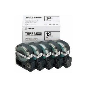 KINGJIM/キングジム  テプラテープカートリッジ(5本セット) SS12K-5P