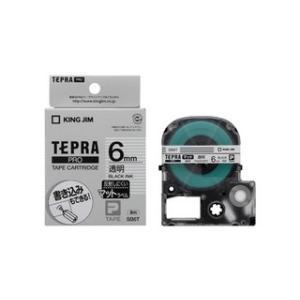 KINGJIM/キングジム  テプラPROテープカートリッジ 透明 黒文字 6mm SB6T