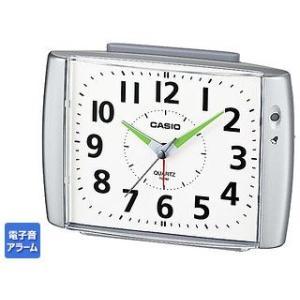 CASIO/カシオ  TQ-382-8JF  目覚まし時計 シルバー/ベル音アラーム/ライト murauchi