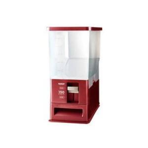 アスベル  計量米びつ 12kg型 洗える米びつ レッド ( ライスストッカー 10kg )|murauchi