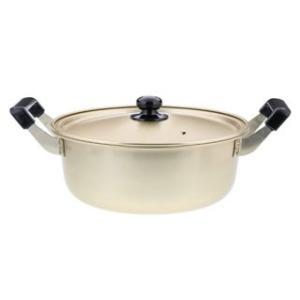 ベストコ  軽くて丈夫なアルミ鍋 24cm ゴールド しゅう酸ふるさと鍋 ND-8955|murauchi
