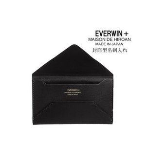 EVERWIN/エバウィン  21539 メンズ 牛革 封筒型名刺入れ (ブラック)EVERWIN+ MAISON DE HIROAN|murauchi