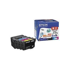 EPSON/エプソン  【純正】ビジネスインクジェット用 大容量インクカートリッジ/4色パック IC4CL76|murauchi