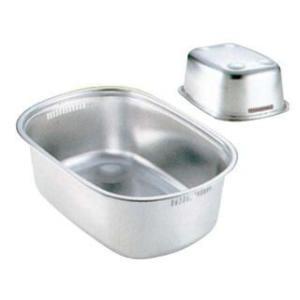SHINETSU/新越ワークス  18−8 小判型 洗い桶(足付)|murauchi