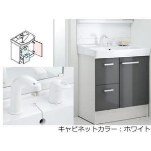 LIXIL/リクシル  【INAX】洗面化粧台750mm D7 引き出しタイプ シングルレバー洗髪シャワー水栓 D7H4-755SY1-W/VP1W|murauchi