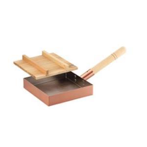 ASAHI/アサヒ  CNE-117 食楽工房 純銅本職用玉子焼き18cm(木蓋付)|murauchi
