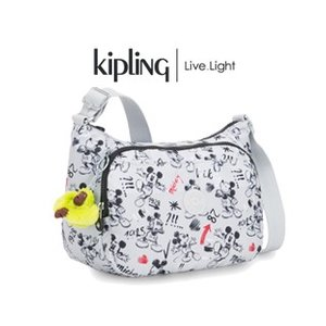 KIPLING/キプリング  【最新作】 D CAI/カイ 斜めがけショルダー(スケッチ グレー/SKETCH GREY)|murauchi