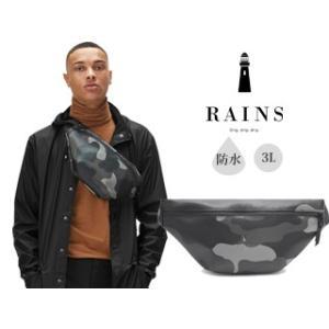 RAINS/レインズ  ♪本格防水 ボディバッグ 【ナイトカモフラージュ】 バムバッグ/Bumbag|murauchi