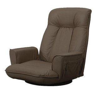 座椅子 SPR 本革 座イス ブラウン/BR murauchikagu