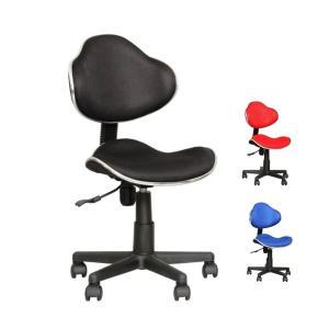 デスクチェア オフィスチェア パソコンチェア 学習チェア 学習イス 椅子 キューズ ブラック フィット感を重視したコンパクトデザイン|murauchikagu