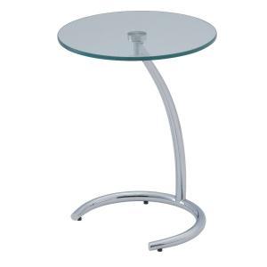サイドテーブル シンプル おしゃれ ガラス モダン クルーナ GLASS TOP|murauchikagu
