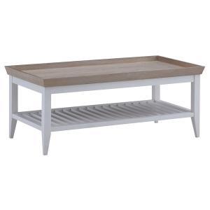 センターテーブル リビングテーブル ローテーブル 木製 フレンチカントリー プロヴァンス 南仏 おしゃれ マーレン ホワイト|murauchikagu