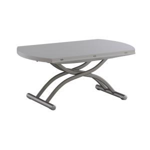 リフティングテーブル OZZIO ロンド 125 木目ホワイト イタリア製 昇降・拡張テーブル|murauchikagu