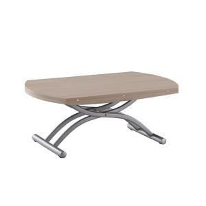 リフティングテーブル OZZIO ロンド 125 オークホワイト イタリア製 昇降・拡張テーブル|murauchikagu