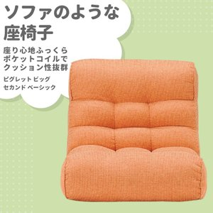 座椅子 ピグレット/PIGLET ビッグ/BIG セカンド/2ND ベーシック/BASIC オレンジ/OR まるでソファのような座イス murauchikagu