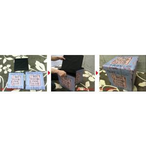 ボックススツール 折りたためる 収納ボックス スツール No.14 合成皮革 イス 椅子 収納|murauchikagu|02