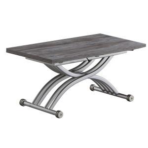 リフティングテーブル OZZIO サリスカンディ アッシュグレー イタリア製 昇降・拡張テーブル murauchikagu