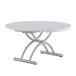 リフティングテーブル OZZIO ロンド 125 ホワイト イタリア製 昇降・拡張テーブル 家具は村内創業70周年記念モデル|murauchikagu