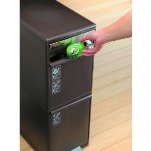ゴミ箱 like-it MSP-12BS BR 分別スイングストッカーワイド 吉川国工業所|murauchikagu|03
