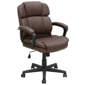 デスクチェア オフィスチェア 書斎イス パソコンチェア 椅子 C-110 BR/ブラウン|murauchikagu
