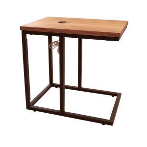 サイドテーブル ナイトテーブル ワイヤレス充電 アルタ オーク|murauchikagu