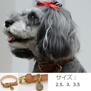 犬 首輪 モナリザオーストリッチデザインレザーカラー(首輪) ダビンチ