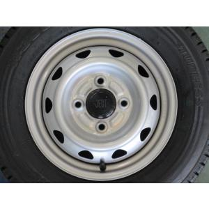 【軽トラ・軽バン】 スタッドレスセット ブリヂストン W300 145R12 6PR JECT スチールホイール musashimurayama