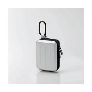カメラケース かわいい デジカメケース ハード素材 シルバー エレコム ELECOM DGB-053SV |1302ELZC^|musasinojapan