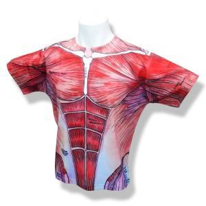 フルプリント筋肉デザインTシャツ|muscle