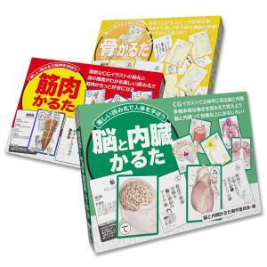 【セットでお得】筋肉&骨&脳と内臓 解剖学かるた3点セット