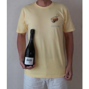 Tシャツ メンズ 男女兼用 半袖 シャンパン 綿100% ミュズレハート ロゴ ワンポイント