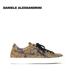 ダニエレアレッサンドリーニ DANIELE ALESSANDRINI 3万9960 スニーカー シューズ 靴 スウェード メンズ 総柄 インポート 春 マルチ 39 あすつく|museum8